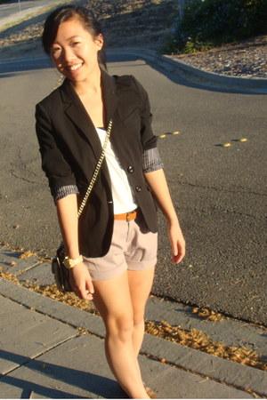 boyfriend Lauren Conrad blazer - Rebecca Minkoff bag - Old Navy top