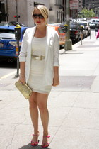 H&M dress - H&M blazer - vintage purse - Carerra sunglasses - franco sarto heels