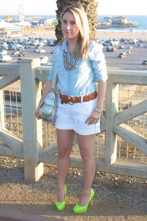 Gap shirt - Rebecca Minkoff purse - Theory shorts - linea pelle belt - H&M neckl