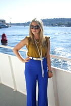 Alice  Olivia pants - PROENZA SCHOULER sunglasses - vintage necklace