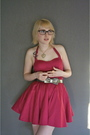 Pink-forever-21-dress-purple-shoes-silver-forever-21-belt-gold-accessories