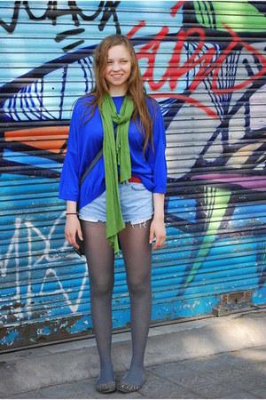 Zara sweater - BikBok shorts - vintage belt - dorthy perkins flats