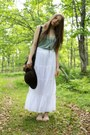 Vintage-hat-secondhand-bag-zara-skirt-massimo-dutti-top
