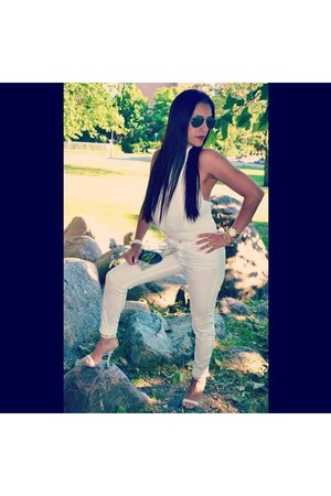 Ray Ban sunglasses - white sandals - H&M pants - white top