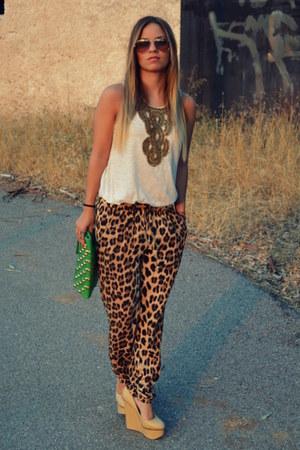 Topshop blouse - leopard print Zara pants