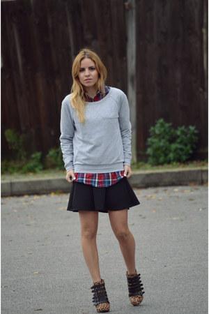Zara shirt - Stradivarius skirt - ASH heels