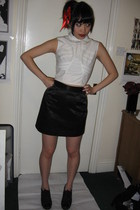 White Project top - vivienne westwood skirt - Dries Van Noten shoes