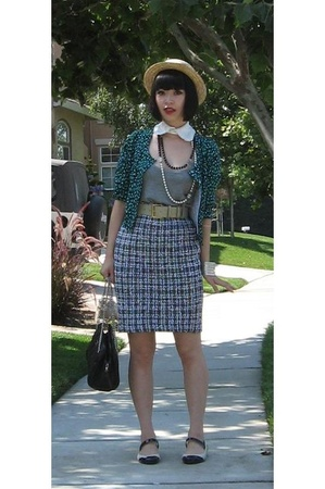 Chanel purse - jerkville accessories - St John Couture skirt - H&M top