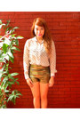 Gold-style-staple-shorts-white-sheer-bazaar-top-pink-swatch-watch