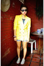 Yellow-vintage-from-grandmas-closet-blazer-gray-people-are-people-top-blue-f