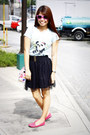 Aquamarine-the-perfect-white-shirt-t-shirt-black-random-brand-skirt-hot-pink