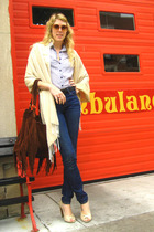 blouse - scarf - purse - jeans - shoes - belt