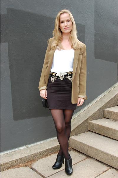 Vintage Black DIY Belts Blazers Black Skirts Zara Eurosko Green Eq0pTv