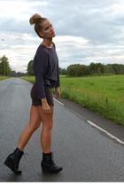 Zara top - H&M dress - Din Sko boots