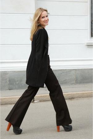 Zara coat - H&M Trend pants - lita Jeffrey Campbell heels