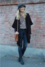 Black-acne-shoes-tawny-vintage-purse-camel-vintage-blouse-charcoal-gray-h-