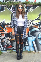 black studded creeper Deena & Ozzy boots
