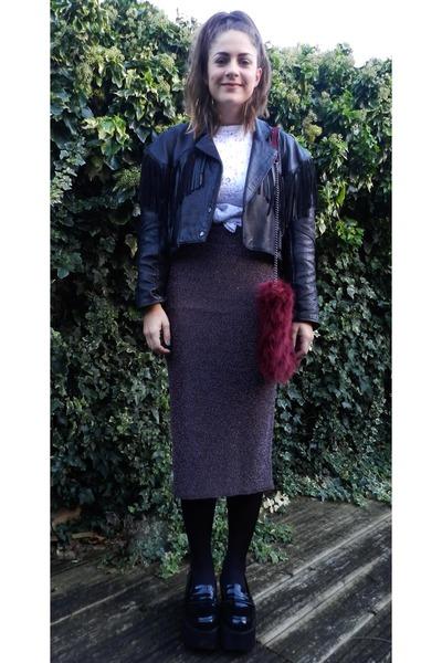 black fringed leather Dirty Harry Vintage jacket