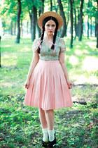 shiffon H&M blouse - cotton vintage skirt