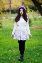 cotton Mango dress - acryl H&M sweater