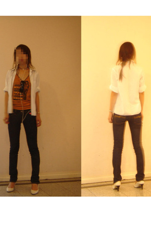 shirt - hong kong brand top - dianna ferari shoes - Nudie jeans