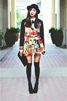Geometric Dress + Bowler Hats