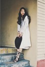 Beige-trench-coat-h-m-coat-heather-gray-striped-crop-forever-21-top