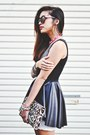 Black-pleather-peplum-mustard-cartel-top-white-urban-outfitter-dress