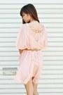 Light-pink-choies-dress-cream-forever-21-blazer-eggshell-zara-heels