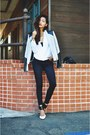 Heather-gray-biker-leather-hokkfabrica-jacket-white-sheinsidecom-blouse