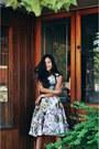 White-midi-skirt-choies-skirt-black-minimalist-daniel-wellington-watch