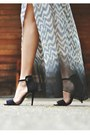Heather-gray-maxi-patterns-sugarlips-skirt-black-naked-zebra-blouse