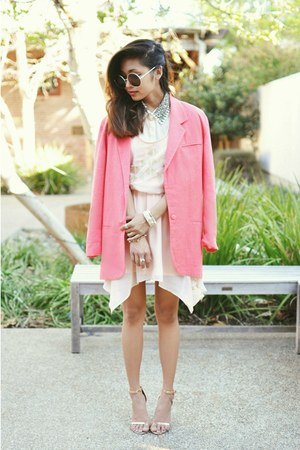 light pink Sugarlips dress - neutral Zara heels