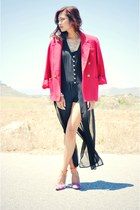 black Forever 21 dress - red red comfy Norton McNaughton blazer