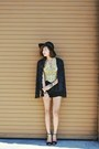Gold-lace-peplum-sugarlips-top-black-fringe-thrifted-vintage-blazer