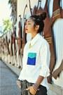 White-hokkfabrica-blouse-yellow-hokkfabrica-necklace