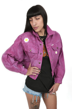 bubble gum Guess jacket