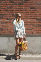Zara sandals - Aritzia sweater - Zara skirt