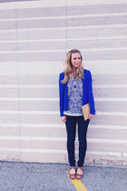 Zara blazer - Anthropologie blouse - Zara heels