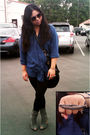 Blue-goodwill-shirt-gray-urban-outfitters-shoes-black-urban-outfitters-purse