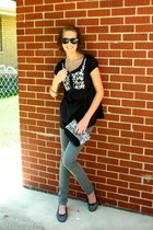 H&M jeans - H&M shirt - - Ray Ban sunglasses