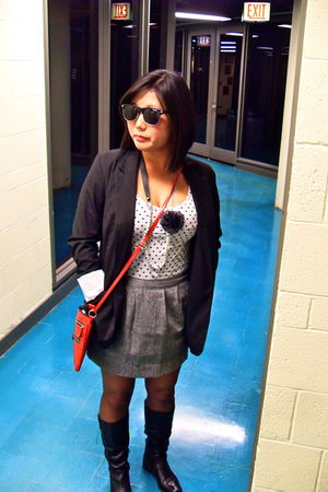 black Target blazer - white Agaci t-shirt - gray Old Navy skirt - black New York
