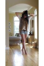 Paige Denim shorts - Urban Outfitters shirt - JCrew belt