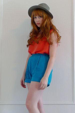 orange My Loved One shorts - blue My Loved One shorts