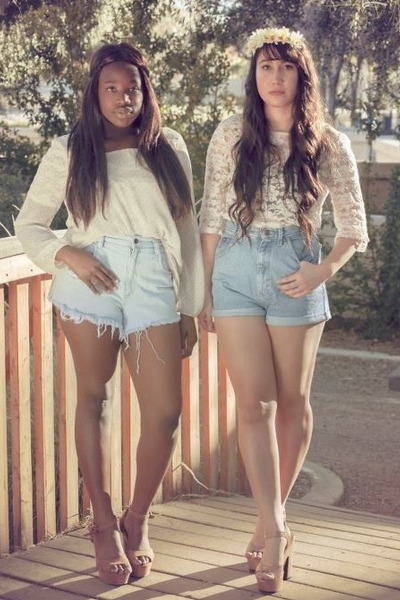 High Waisted Shorts With Heels