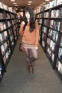 Pink-pepper-boots-burnt-orange-knit-forever-21-sweater-brown-tights