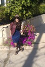 Camel-suede-dolce-vita-boots-blue-midi-dress-brown-hat