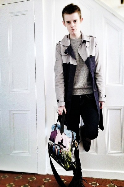Paul Smith bag - Mr KG shoes - Topman coat - Primark jeans - Topman jumper