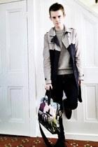 Paul Smith bag - Mr KG shoes - Topman coat - Primark jeans - Topman jumper