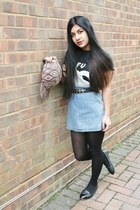 Topshop hat - Topshop dress - Urban Outfitters belt - Urban Outfitters t-shirt